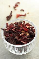 Dried hibiscus tea