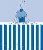 Cute Blue Cupcake