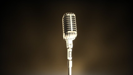 A classic retro microphone from the 50's