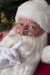 Portrait of Santa, shhh