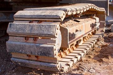 Caterpillar Track in construction site