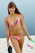 Diver in bikini
