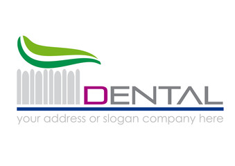 Logo toothpaste  and toothbrush # Vector