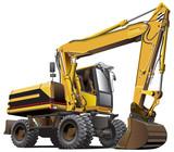 light-brown excavator - 35130413