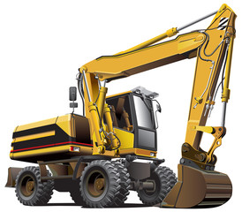 light-brown excavator