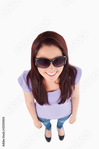 Cute Woman with sunglasses