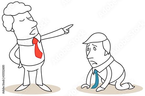Geschäftsleute, gefeuert