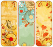 Vintage paper floral banners