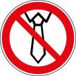 Verbotsschild Tragen von Krawatte Schlips Langbinder verboten