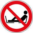 Verbotsschild Füße auf Sitzfläche legen verboten Zeichen