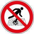 Verbotsschild Einsturzgefahr Betreten verboten Zeichen Schild