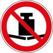 Verbotsschild Keine schweren Gegenstände abstellen