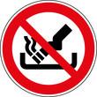 Verbotsschild Kein Aschenbecher - nicht als Ascher benutzen