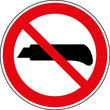 Verbotsschild Cutter verwenden verboten Zeichen