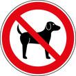 Verbotsschild Hunde verboten Zeichen Symbol Schild