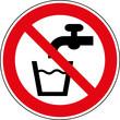 Verbotsschild Kein Trinkwasser - Wasser nicht trinken