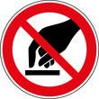 Verbotsschild Nicht berühren - anfassen verboten Zeichen