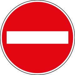 Verbotsschild Einfahren verboten - Keine Einfahrt Schild