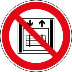 Verbotsschild Kein Lastenaufzug Schild Zeichen Symbol