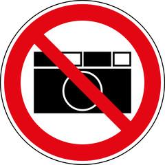 Verbotsschild Fotografieren verboten Zeichen Symbol
