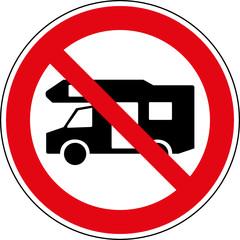 Verbotsschild Keine Wohnmobile Zeichen Symbol