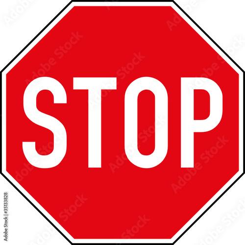 Stoppschild Stop anhalten Schild Zeichen Symbol