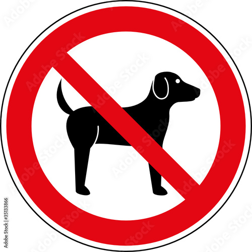 fototapete verbotsschild hunde verboten zeichen symbol schild fototapeten aufkleber poster. Black Bedroom Furniture Sets. Home Design Ideas