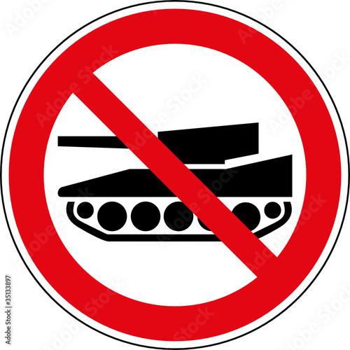 fototapete verbotsschild panzer verboten schild zeichen symbol. Black Bedroom Furniture Sets. Home Design Ideas