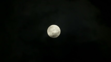 Cloud obscuring full moon