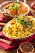 Indisches Biryani mit Fischcurry