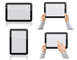 Set of Tablet PC with Hands
