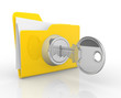 Key and yellow folder