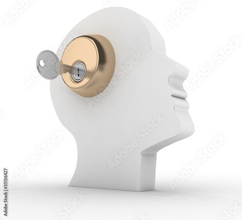 Head with key
