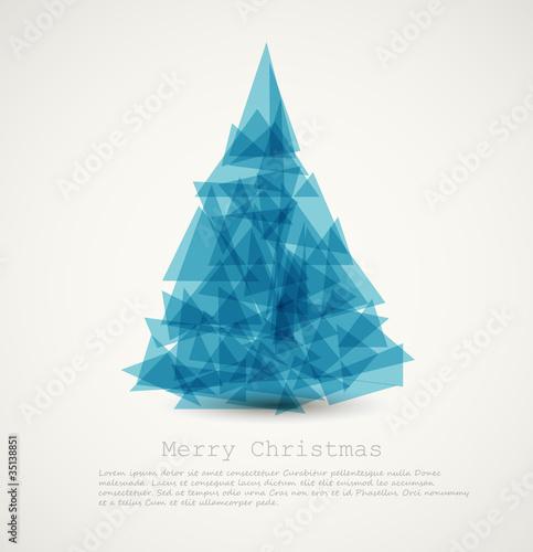 Vector blue modern abstract christmas tree