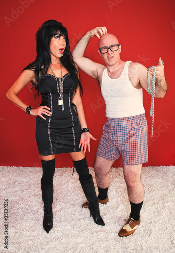 Annoyed Dominatrix and Confused Client