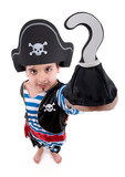 Pirate s hook like a question mark.