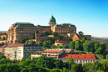 View of Buda Castle from Gellert Hill.