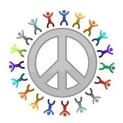 peace sign diversity illustration design