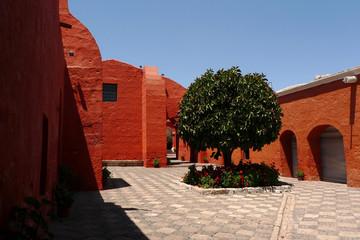 Courtyard in Monastery Catalina, Arequipa, Peru