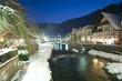 Fluss Schiltach bei Nacht