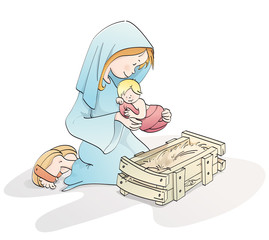 Cute Christmas nativity