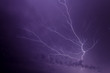 Lightning Bold Forks Many Times in Night Sky