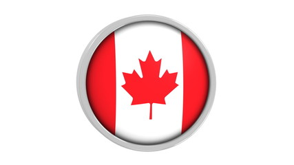 Canadian flag with circular frame