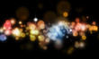 Abstract blurs on dark background