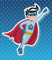 Superhero boy cartoon.