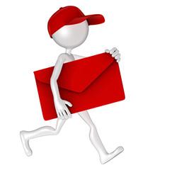 Postman with envelope