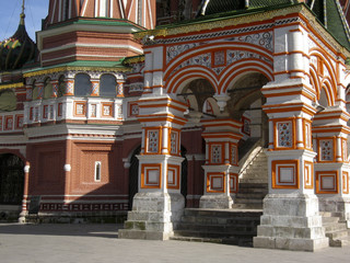 St. Basil's (Pokrovskiy) cathedral, Moscow, detail