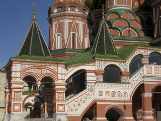 St. Basil's (Pokrovskiy) cathedral in Moscow, detail