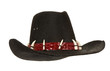 black cowboy hat isolated on white