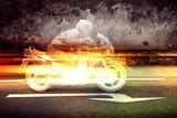Fast Motorbike at Night